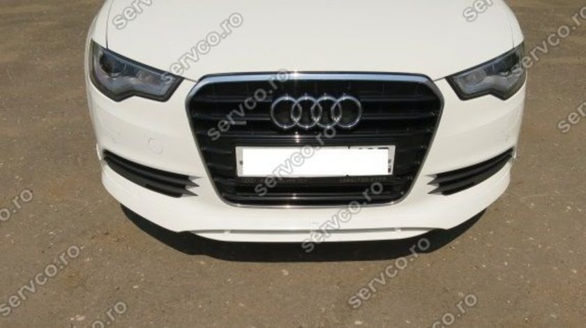 Fusta spoiler bara fata Audi A6 4G C7 2011 2012 2013 2014 ABT Sline S6 Rs6