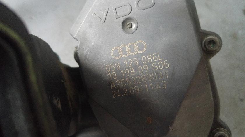 Galerie admisie cu clapete si motoras stanga 2.7 tdi can euro 5 audi a6 4f c6 059129711br 059129086l