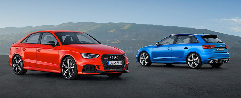 GALERIE FOTO: Acum ca este completa, Audi prezinta cu mandrie familia RS3