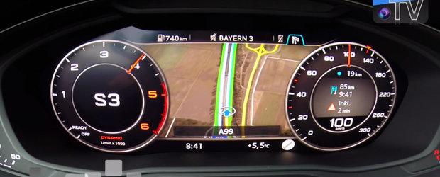 Garda mare la sol nu pare sa-l incurce deloc. Noul Audi A4 Allroad 'zboara' pana la suta!