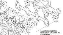 Garnitura colector esapament Dacia Logan Sandero D...