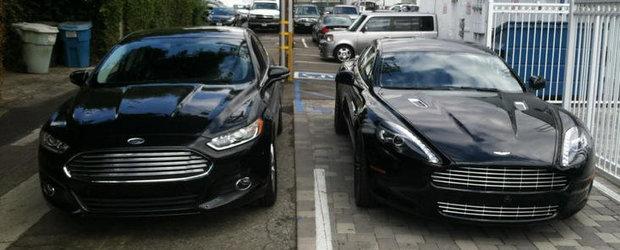 Gaseste diferentele: Aston Martin Rapide versus noul Ford Mondeo