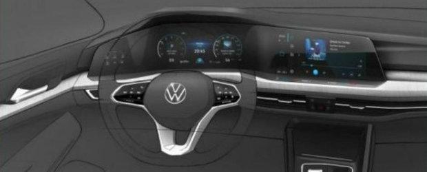 Gata cu asteptarea: uite cum arata la INTERIOR noul Volkswagen GOLF 8!