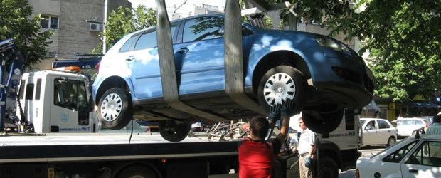Gata cu parcarea unde ne taie capul: se ridica masini si in sectorul 2, amenda este de 2000 de lei!