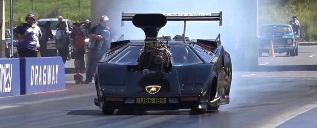 Gata, le-am vazut pe toate: un Lamborghini Countach TopFuel de drag