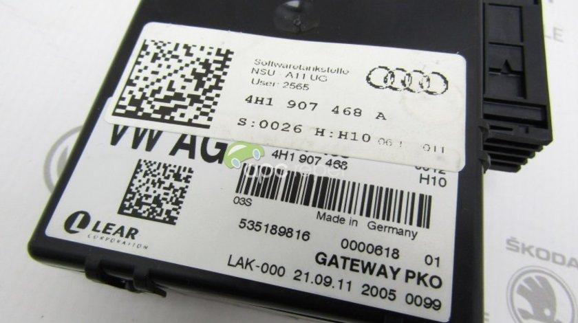 Gateway Original / Modul CAN Audi A8 4H D4 - Cod: 4H1907468A