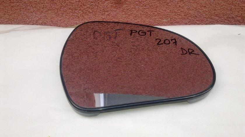 Geam oglinda dreapta peugeot 207