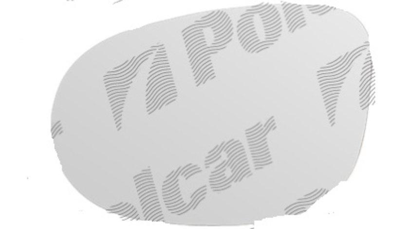 Geam oglinda Lancia Ypsilon, 06.2011-, Ford Ka (Ru8), 10.2008-, Lancia Musa (350), 01.2007-, Stanga, Crom, Cu incalzire, Convex, View Max, 1570757; 1672379; 1751724; 71754817 3233545M Kft Auto
