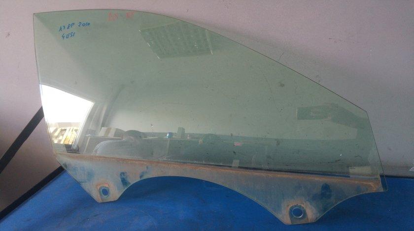 Geam usa portiera dreapta fata audi a3 8p hatchback sportback facelift 2003-2012