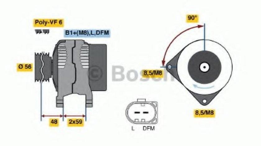 Generator / Alternator AUDI A1 Sportback (8XA, 8XF, 8XK) (2011 - 2016) BOSCH 0 986 045 390 piesa NOUA