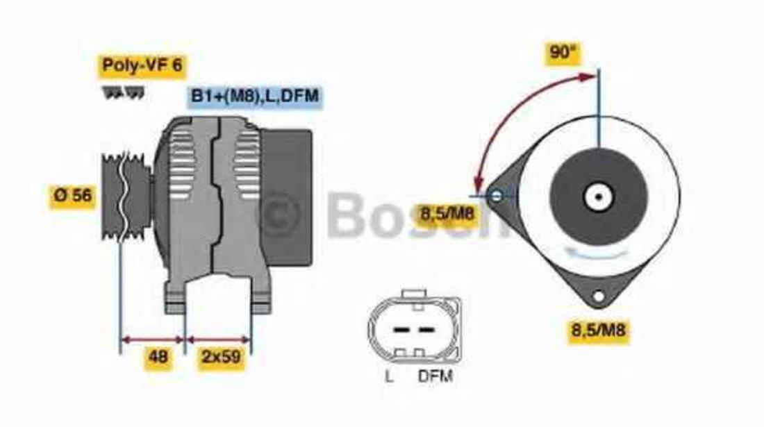 Generator / Alternator AUDI A4 (8E2, B6) BOSCH 0 986 045 340