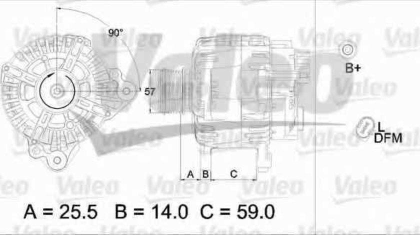 Generator / Alternator AUDI A4 8E2 B6 VALEO 437454
