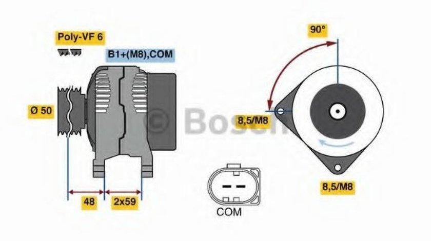 Generator / Alternator AUDI A4 (8K2, B8) (2007 - 2015) BOSCH 0 986 081 340 produs NOU