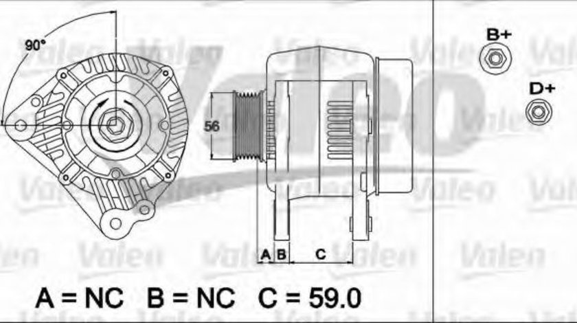 Generator / Alternator AUDI A4 Avant (8D5, B5) (1994 - 2001) VALEO 437492 piesa NOUA