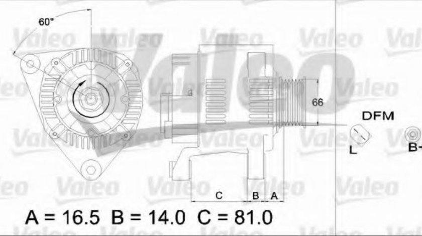 Generator / Alternator AUDI A4 Avant (8D5, B5) (1994 - 2001) VALEO 437174 piesa NOUA