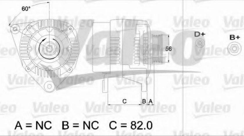 Generator / Alternator AUDI A4 Avant (8D5, B5) (1994 - 2001) VALEO 437493 piesa NOUA
