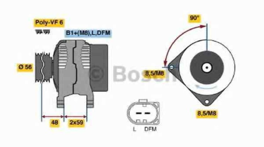 Generator / Alternator AUDI A4 Avant (8E5, B6) BOSCH 0 986 045 340