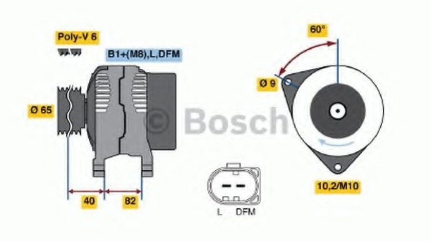 Generator / Alternator AUDI A4 Cabriolet (8H7, B6, 8HE, B7) (2002 - 2009) BOSCH 0 986 044 470 piesa NOUA