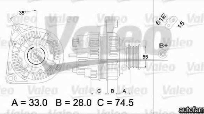 Generator / Alternator BMW 3 E46 VALEO 437309