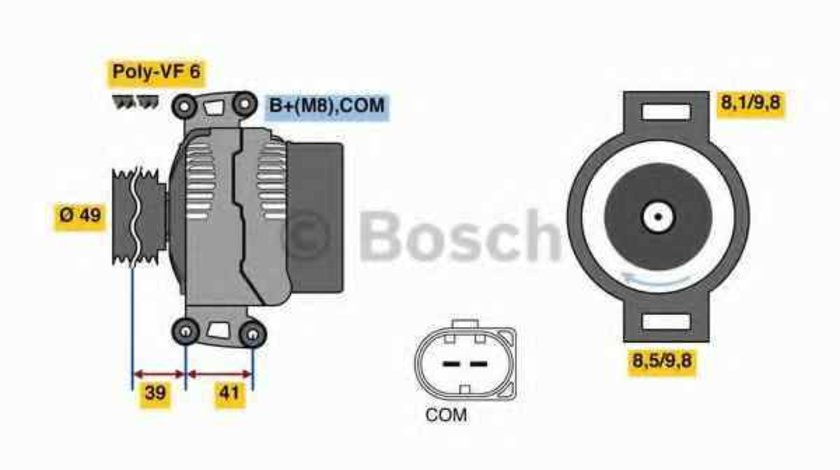 Generator / Alternator BMW 6 E63 BOSCH 0 986 048 820