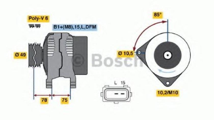 Generator / Alternator BMW Seria 3 Touring (E46) (1999 - 2005) BOSCH 0 986 041 810 piesa NOUA
