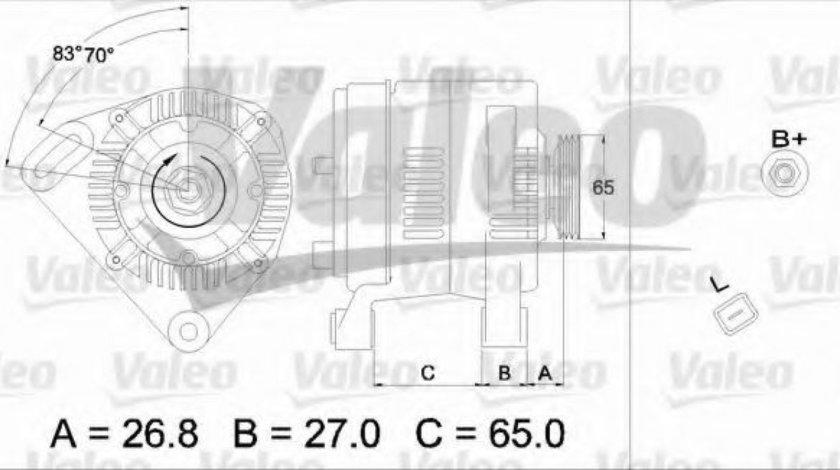 Generator / Alternator DACIA LOGAN (LS) (2004 - 2016) VALEO 437373 piesa NOUA