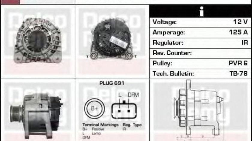 Generator / Alternator DACIA LOGAN Pick-up (US) (2008 - 2016) DELCO REMY DRA0293 piesa NOUA