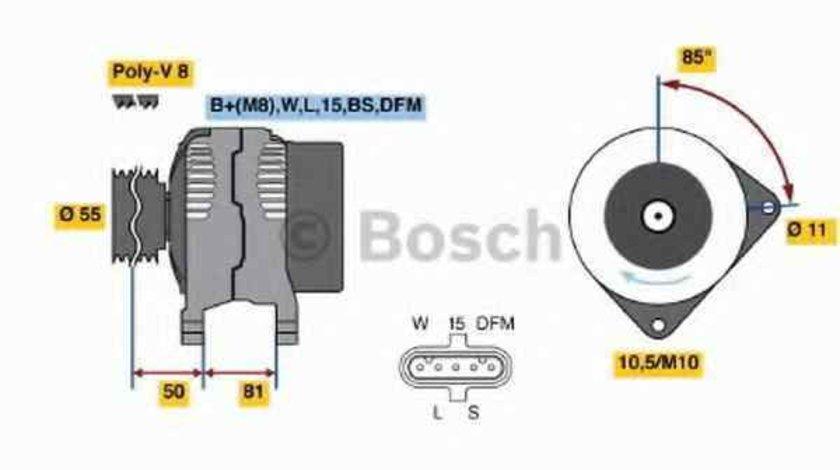 Generator / Alternator DAF LF 55 BOSCH 0 124 555 006