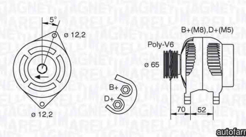 Generator / Alternator FIAT COUPE (FA/175) MAGNETI MARELLI 063321402010