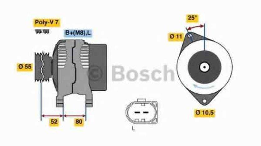 Generator / Alternator IVECO DAILY IV platou / sasiu BOSCH 0 986 046 210