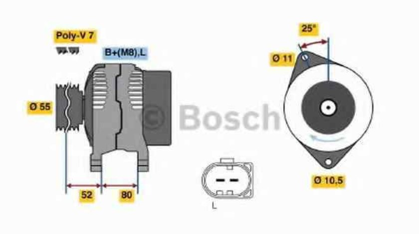 Generator / Alternator IVECO DAILY IV autobasculanta BOSCH 0 986 046 210