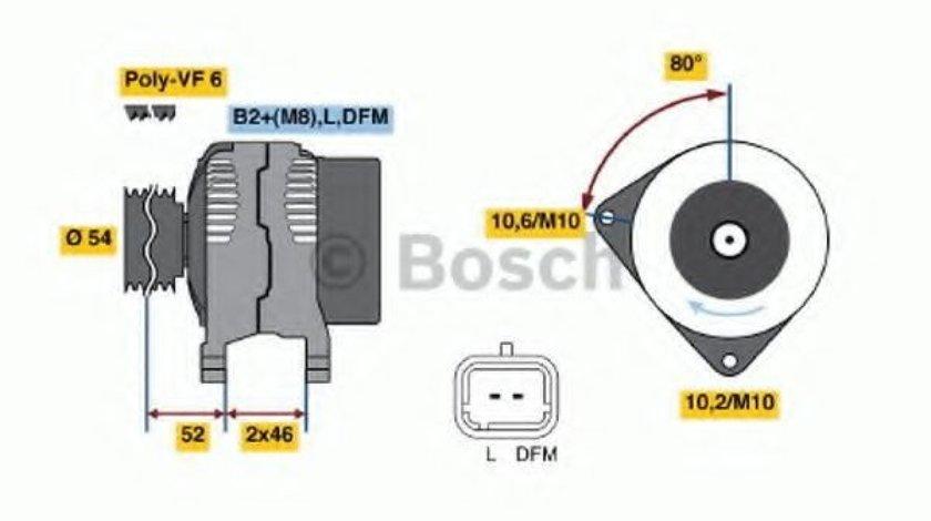 Generator / Alternator LANCIA PHEDRA (179) (2002 - 2010) BOSCH 0 986 046 240 - produs NOU