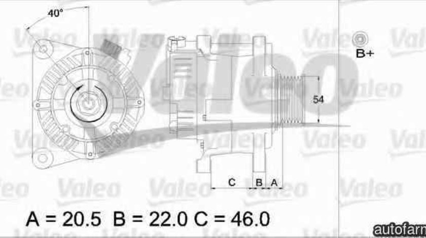 Generator / Alternator LANCIA PHEDRA (179) VALEO 437356