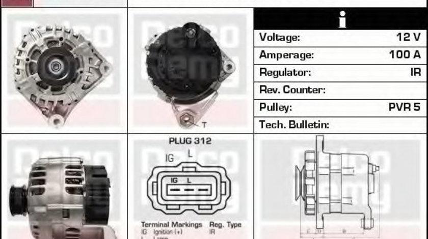 Generator / Alternator LAND ROVER FREELANDER (LN) (1998 - 2006) DELCO REMY DRA4033 piesa NOUA