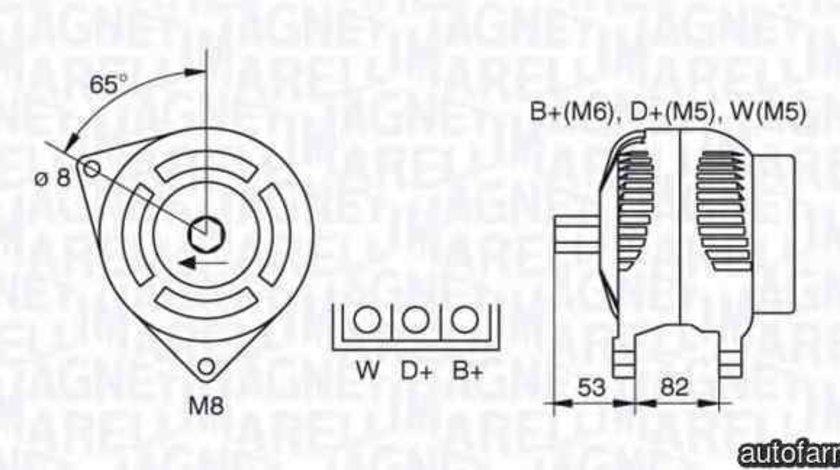Generator / Alternator LAND ROVER RANGE ROVER I (AE, AN, HAA, HAB, HAM, HBM, RE, RN) MAGNETI MARELLI 063377463010