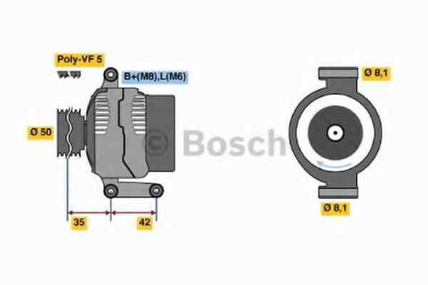 Generator / Alternator MERCEDES-BENZ A-CLASS W168 BOSCH 0 986 045 181