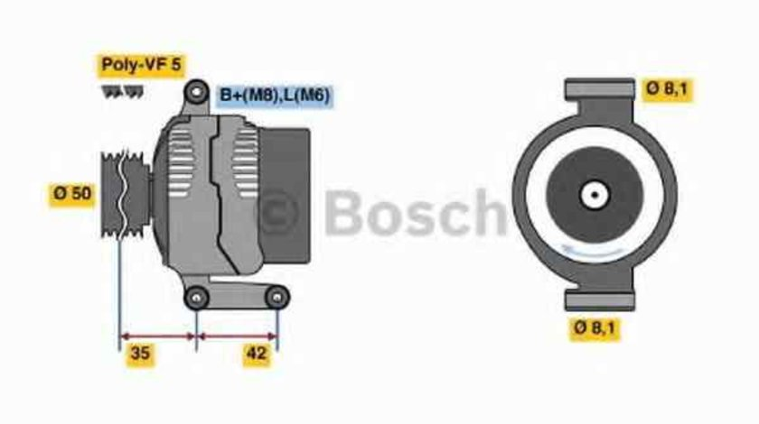 Generator / Alternator MERCEDES-BENZ A-CLASS W168 BOSCH 0 986 045 181