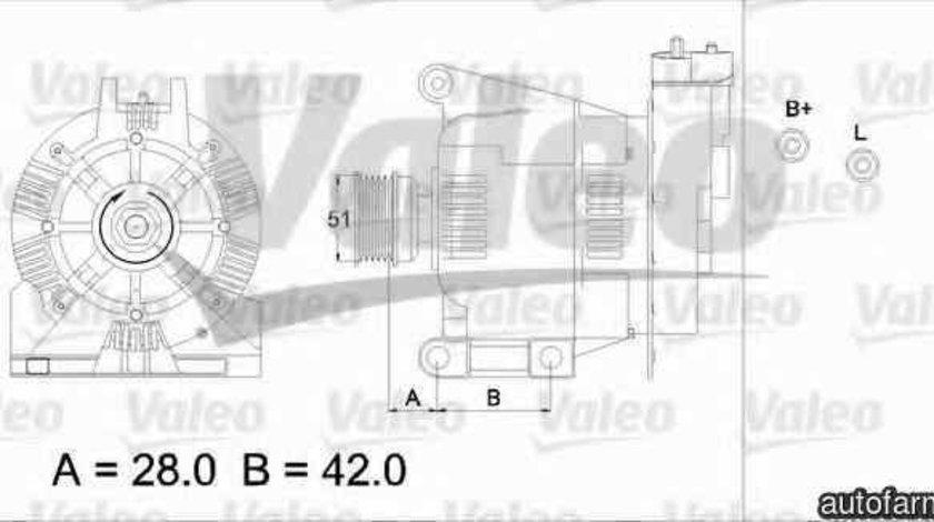 Generator / Alternator MERCEDES-BENZ A-CLASS W168 VALEO 436732