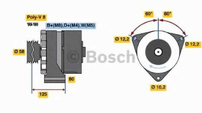 Generator / Alternator MERCEDES-BENZ CONECTO O 345 BOSCH 0 986 043 890