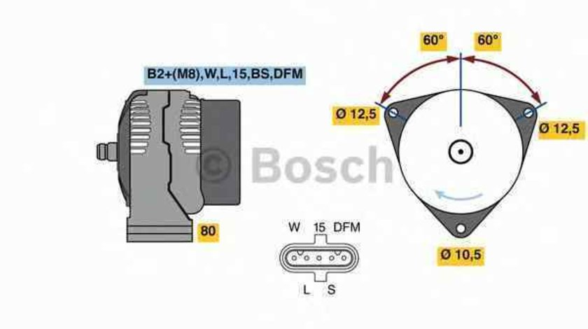 Generator / Alternator MERCEDES-BENZ CONECTO O 345 BOSCH 0 124 555 065