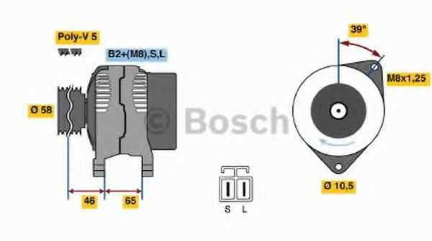 Generator / Alternator MITSUBISHI CARISMA limuzina DA BOSCH 0 124 325 008