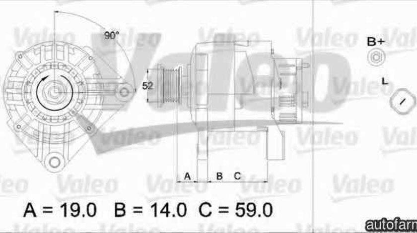 Generator / Alternator MITSUBISHI SPACE STAR DGA VALEO 437208
