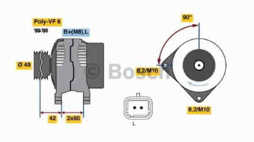 Generator / Alternator MITSUBISHI SPACE STAR DGA BOSCH 0 986 045 241