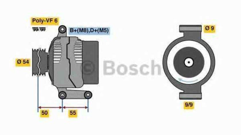 Generator / Alternator OPEL AGILA A H00 BOSCH 0 986 048 771