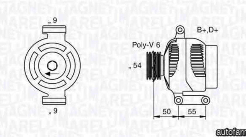 Generator / Alternator OPEL AGILA (A) (H00) MAGNETI MARELLI 063358061010
