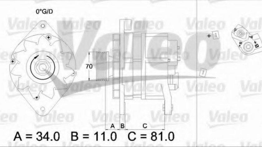 Generator / Alternator OPEL ASTRA F Hatchback (53, 54, 58, 59) (1991 - 1998) VALEO 436302 piesa NOUA
