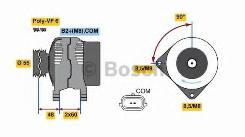 Generator / Alternator RENAULT KANGOO / GRAND KANGOO (KW0/1) (2008 - 2016) BOSCH 0 986 080 410 piesa NOUA
