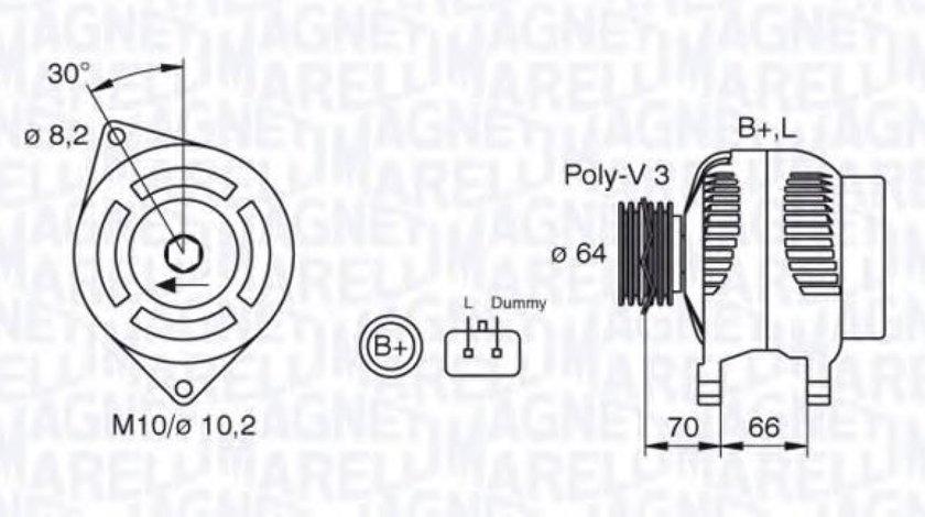 Generator / Alternator RENAULT KANGOO (KC0/1) (1997 - 2007) MAGNETI MARELLI 063310506010 piesa NOUA