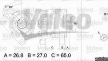 Generator / Alternator RENAULT KANGOO KC0/1 VALEO ...