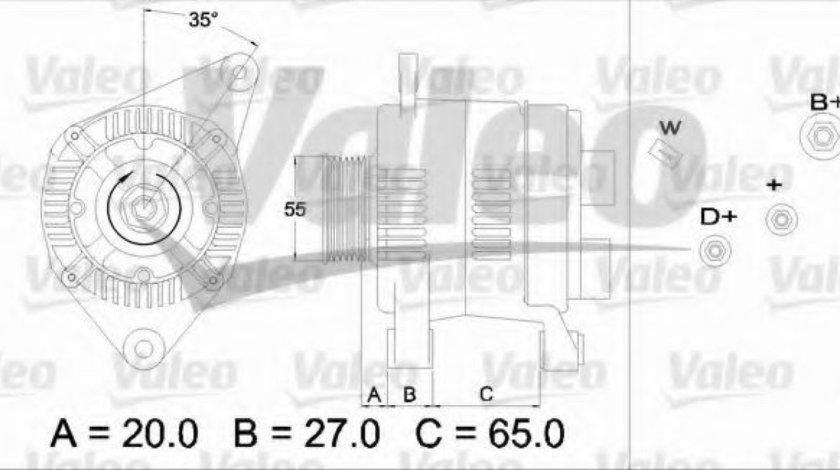 Generator / Alternator RENAULT LAGUNA I (B56, 556) (1993 - 2001) VALEO 436465 piesa NOUA